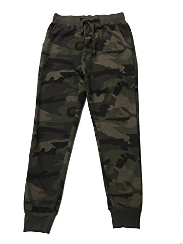 Ougedi Camouflage Pants Army Waistband Sweatpants Jogger Pants Outdoor Trousers (Large, Army)