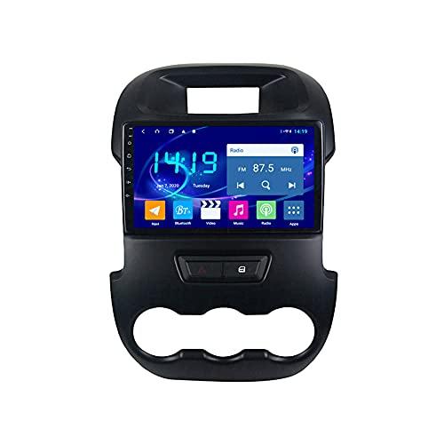 Kilcvt 4g + 64g Navegación GPS Android 10 Unidad Principal Radio De Coche Reproductor Estéreo, para Ford Ranger 2011-2014 Soporte Control del Volante/Multimedia/Enlace Espejo