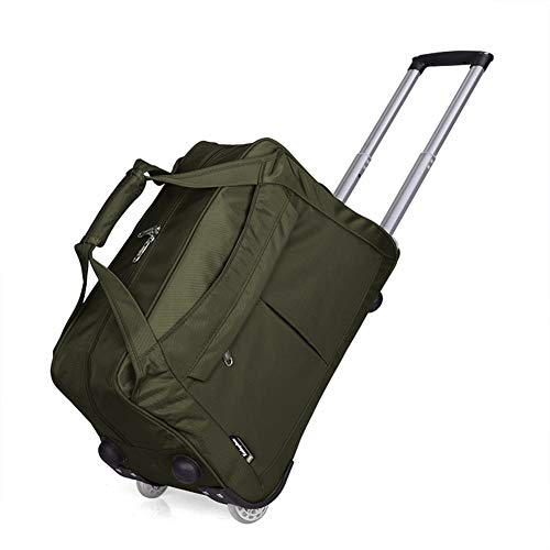 Adlereyire Laptop Trolley Bag Large-Capacity Stylish Lightweight Duffel Bag Convenient Rollers Waterproof Wear-Resistant Protection (Color : Green, Size : 543435cm)