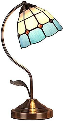JWCN Banker Lampe Tiffany Style Tischlampe Barock Art Deco Glasmalerei Schreibtischlampe mit Schalter zum Schießen Retro Shade Glass Schreibtisch Nachttisch H. Uptodate