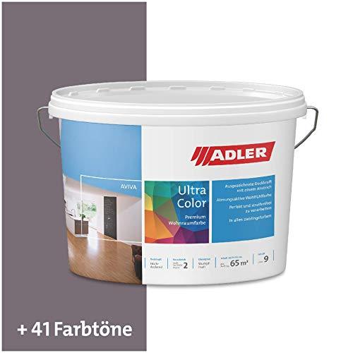 ADLER Ultra-Color Wandfarbe - Volltonfarbe und Abtönfarbe in 100+ Farbtönen - Homepage C12 180/2 Grau 1 l Atmungsaktiv, Hochdeckend, Lösungsmittelfrei