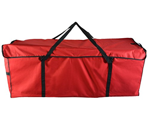 ANSIO Christmas Tree Storage Bag Fits Up to 7ft Tall Artificial Christmas Trees, 600D Oxford Fabric Xmas Trees Bag With Hook & Loop Fasteners (130cm*40cm*50cm) Red