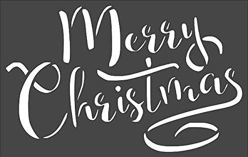 1- Max 48% OFF Luxury 7x11 inch Custom Cut Stencil Christmas TF-70 Merry Arts an