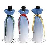 Copribottiglia di vino con motivo stampato, per decorazioni di Natale, per feste di Natale