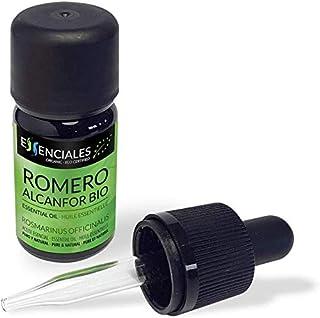 Essenciales - Aceite Esencial de Romero Alcanfor BIO, Ecológico, 100% Puro, 10 ml | Aceite Esencial Rosmarinus Officinalis