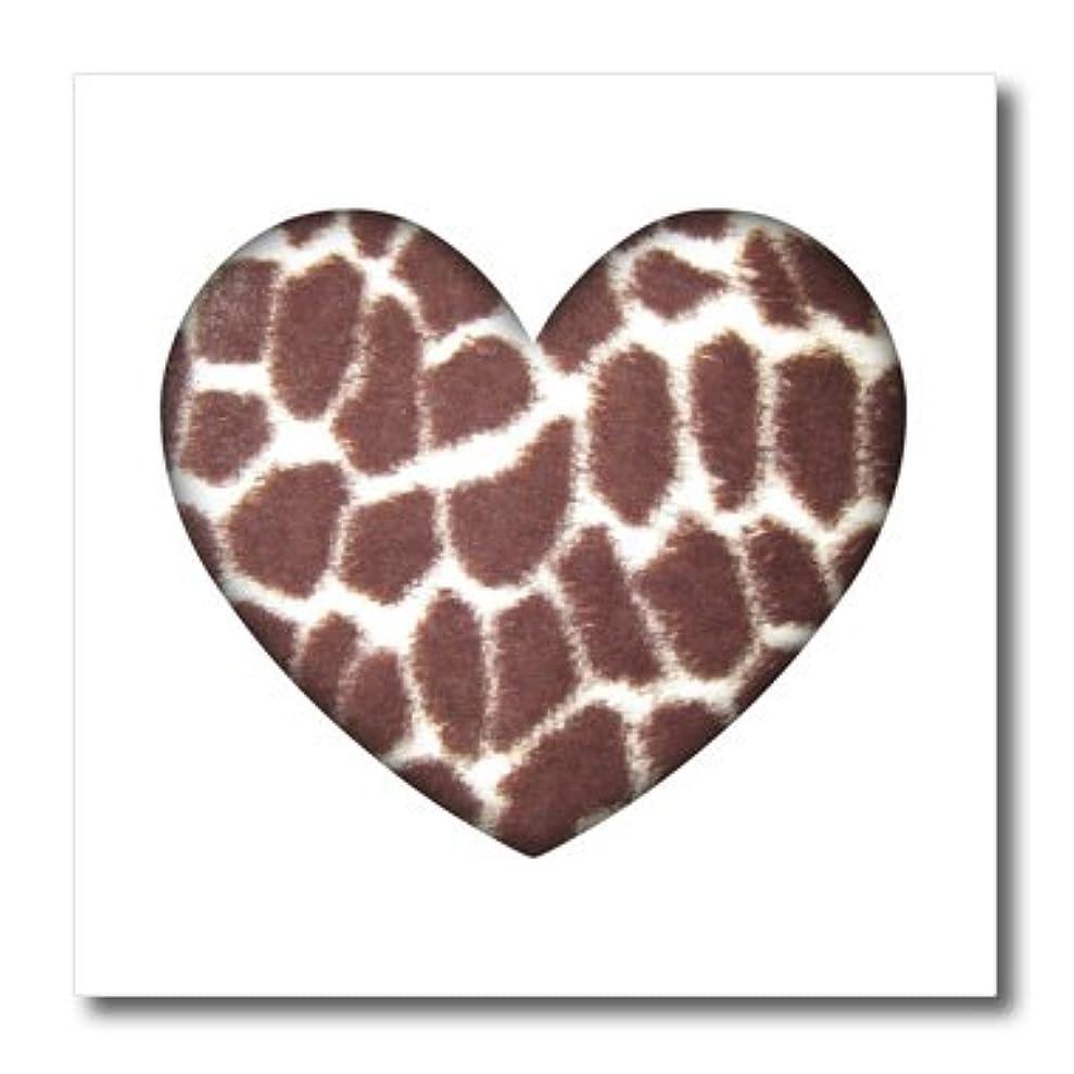3dRose Patricia Sanders Creations - Giraffe Print Heart- Animals- Nature- Art - 8x8 Iron on Heat Transfer for White Material (ht_38475_1) lltvxsile8666