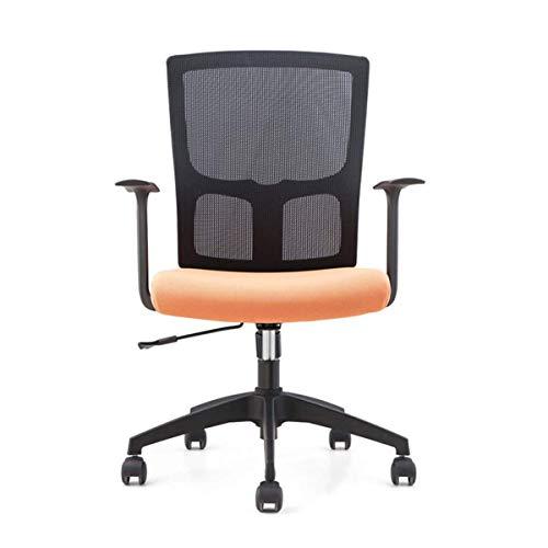 Office Chair, Ergonomic Office Chair Mesh Executive Office Chair with Adjustable Seat Lumbar Support Swivel Computer Desk Chair for Home Office Study, Medium (Color : Orange)