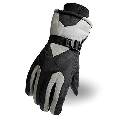 Gants de Ski pour Hommes et Femmes Hiver Chaud Froid extérieur imperméable Gants épais épais (Couleur : G)