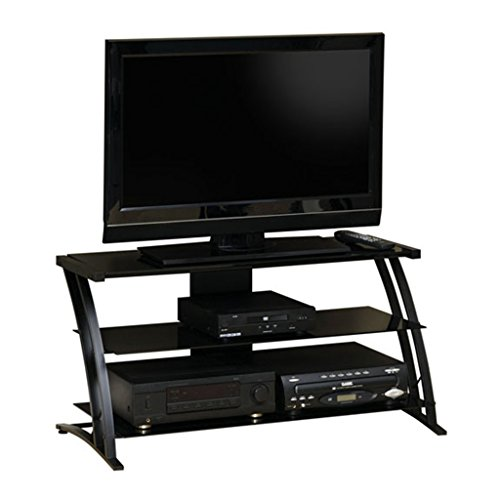 Sauder Deco Panel Stand, For TV's up to 42', Black Finish