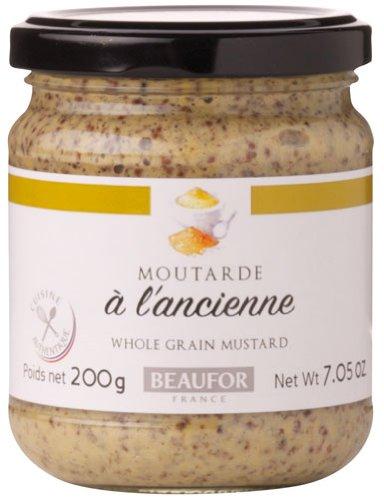 Beaufor Moutarde à l'Ancienne, Französischer Dijon-Senf körnig - 0.2kg - 6x