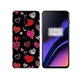 Phone Cover Coque pour OnePlus 1+,Coque Animal Mignon Amour Coeur Coeur Silicone arrière étui pour...