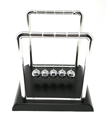 THY COLLECTIBLES Newtons Cradle Balance Balls 5 1/2 inch Desk Top Decoration Kinetic Motion Toy for Home and Office (Small 5.5')