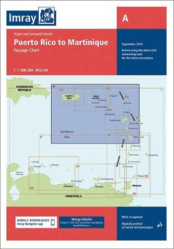 Imray Chart A: Lesser Antilles - Puerto Rico to Martinique Passage Chart...