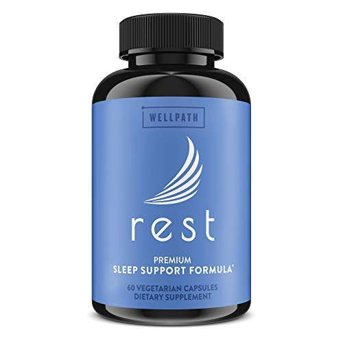 Rest Natural Sleeping Pills for Adults (60ct) |...
