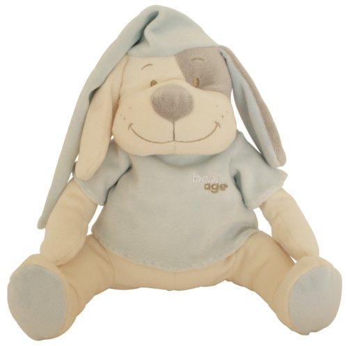 Babiage Doodoo Einschlafhilfe Hund Blau - Kuscheltier Mit Mutterleibstöne Die Beruhigen Ein Neugeborenes