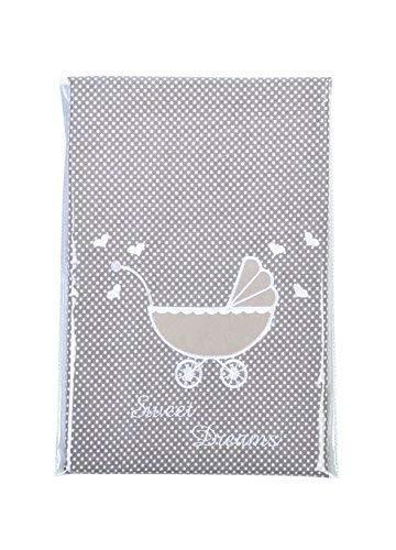 sei Design® Kinderbettwäsche 2 TLG. Babybettwäsche passend zu Kinderwagenset: Bettdeckenbezug 60x80 + Kopfkissenbezug 30x40