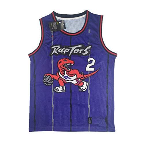 MEIBAO Baloncesto Jersey,2# Kawhi Leonard Toronto Raptors Retro Transpirable Jersey, Swingman Jersey Gym cómodo Chaleco Ropa Deportiva, cumpleaños Masculino (XS-XXL)-Purple-L(180.185cm)