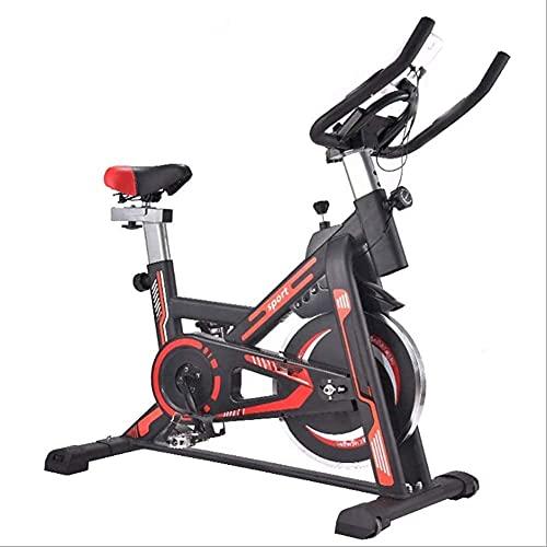 YXYY Bicicleta estática para Interiores, Bicicleta estática giratoria Pantalla LCD Sistema de transmisión por Correa silenciosa y Estable Bicicleta estática con Volante Adecuado para Ejercicio en