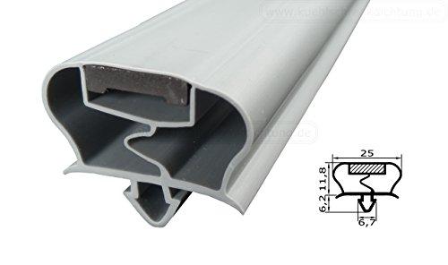 Magnetdichtung Profil groß A - 2500mm inkl. Magnetband - Farbe: Grau (Kühlschrankdichtung)