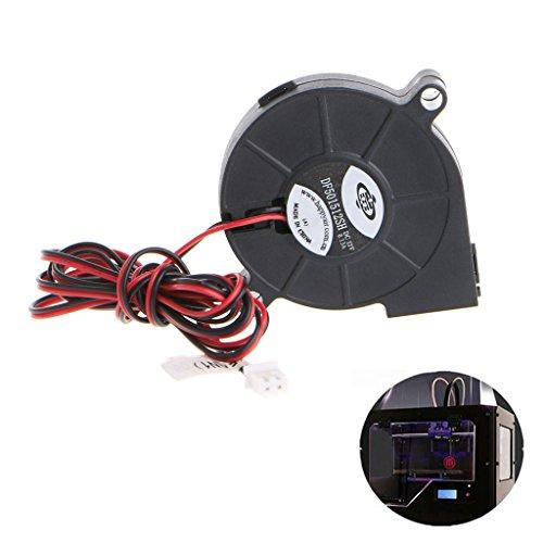 Runrain 1Pc 12V DC 50mm Blow Radial Cooling Fan Hotend Extruder For RepRap 3D Printer