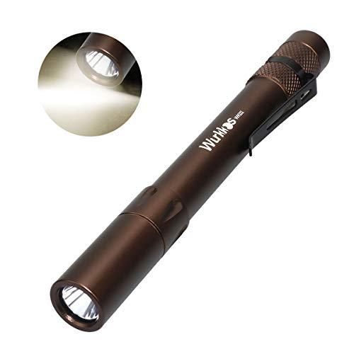 Wurkkos WK02 LED Pen Light - 5mm 300 Lumen mini taschenlampe (ideal für Einsatz im Krankenhaus, Altenheim, Arztpraxis,Handwerker)4000K Stift Licht, Braun