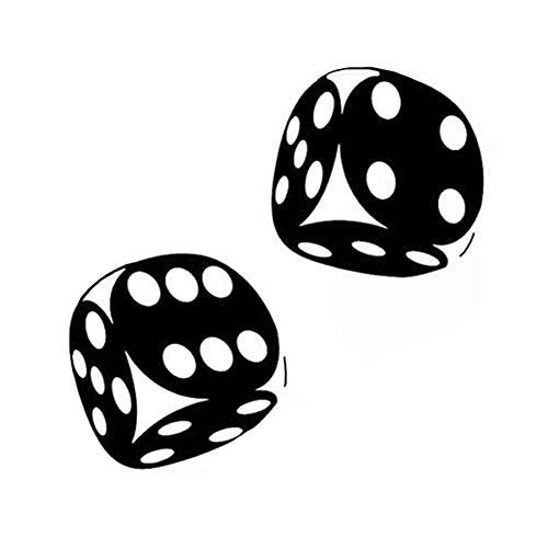ACEACE 13.4 * 13cm Interessanter Auto-Aufkleber Casino Poker Dice-Qualitäts-Dekoration-Vinyl-Grafik (Color Name : Black)