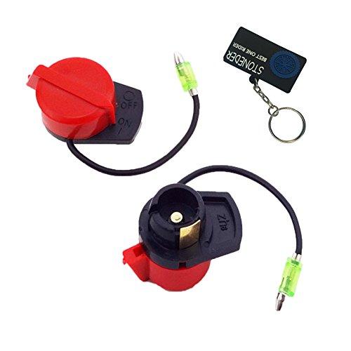 STONEDER Lot de 2 interrupteurs marche/arrêt pour pompe à gaz, essence, générateur d'essence GX160 GX200 GX270 GX340 GX390