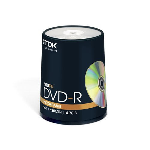 TDK 4.7GB 16x DVD-R 100-Pack Spindle (Discontinued by Manufacturer)