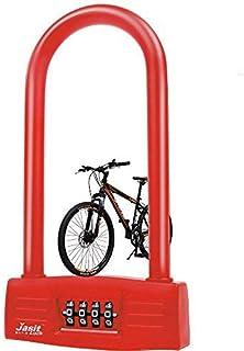 AriTan Bicycles U Lock(Red), Heavy Duty Bike Scooter Motorcycles Password Lock Gate Lock for Anti Theft