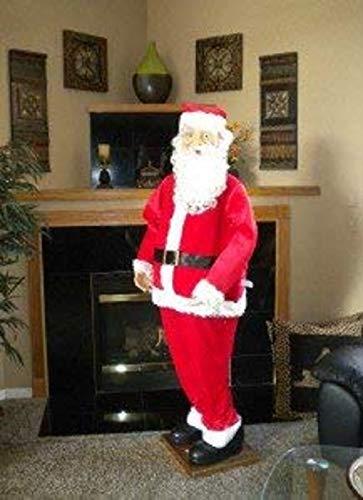 Holiday Living Huge 70 Life Size Santa Claus Singing Animated English/Spanish (American)