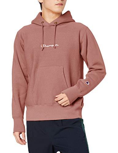 [チャンピオン] パーカー トレーナー 裏起毛 長袖 11.5oz 定番 スクリプトロゴ刺繍 リバースウィーブ フーデッドスウェットシャツ C3-S111 メンズ ブラウン L