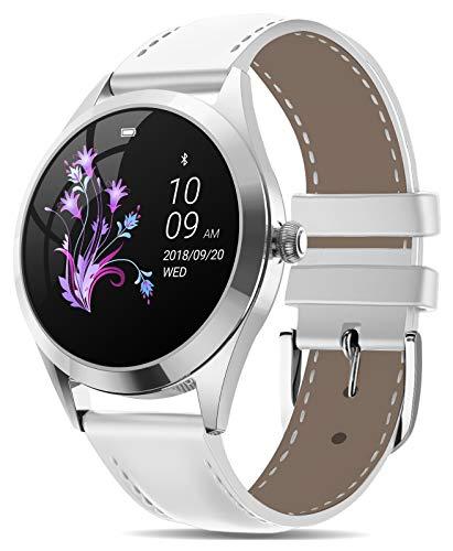 AIMIUVEI Smartwatch Donna, Orologio Fitness Impermeabile IP68 Contapassi Calorie Cardiofrequenzimetro da Polso, Activity Tracker Bluetooth Notifiche Messaggi, Smart Watch per Android iOS