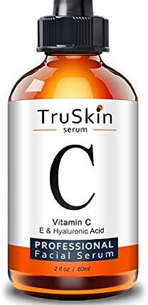 TruSkin suero de vitamina C para cara con ácido hialurónico, vitamina E, hamamelina, botella grande 2 fl oz