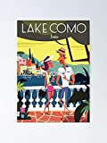 AZSTEEL Lake Como Poster Poster Best Gift for Mothers Day