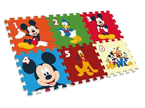 Kids- Mickey Alfombra-Puzzle Eva Suelo 90X60 Cm