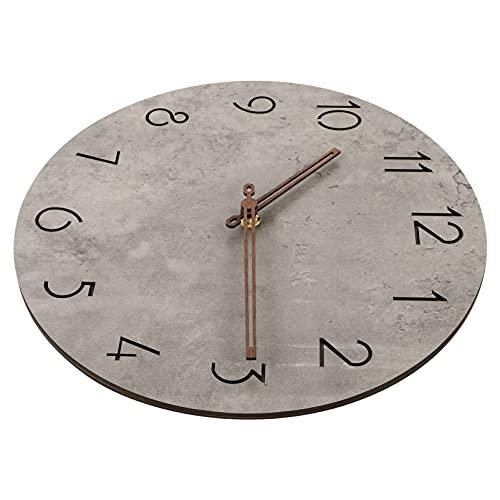 WINOMO Cinza Relógio De Parede De Quartzo Relógio Fácil Leitura Home Office Arte Da Parede De Madeira Do Vintage Retro Relógio de Tempo Decorativos De Parede Relógio Bateria
