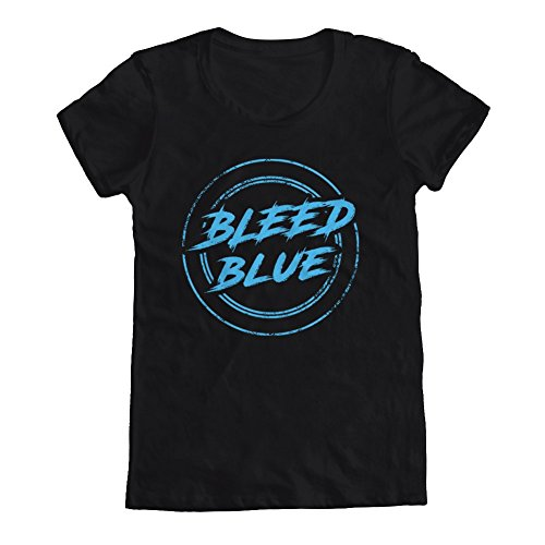 GEEK TEEZ Dota 2 Inspired Team EG Bleed Blue Women's T-Shirt Black X-Large