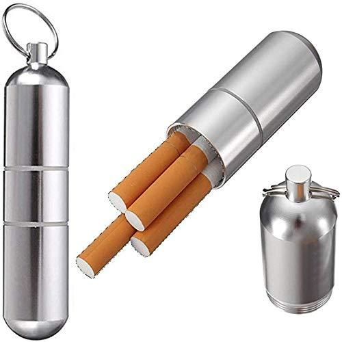 ProLeo 2 pieces cigarette case key chain, portable cigarette case pocket box, take a pill box.