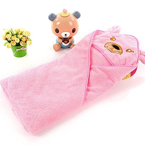 NOBUNO Bebé recién Nacido Invierno cálido Saco de Dormir swaddling swaddling shap Wrap Lindo Suave Pulver de sueño Swaddle Infantil niños Accesorios 1-3 años,Rosado