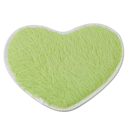 Aiasiry Love Carpet Alfombra Mullida para Dormitorio De Niñas Zapatillas De Felpa para Decoración del Hogar, Verde