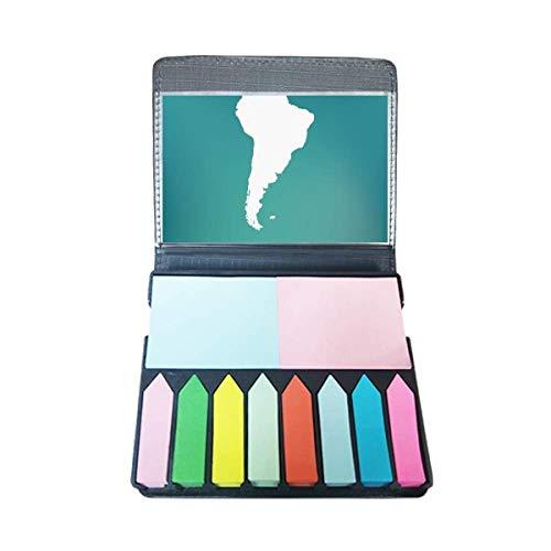 Zuid-Amerika Continent Silhouette Kaart Zelf Stick Opmerking Kleur Pagina Marker Doos
