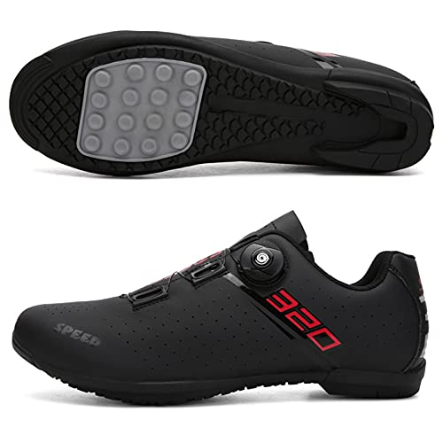 ZDERT Men Cycling Shoes Road Bike Shoes Power-Assisted Hard-Soled Cycling Shoes Spin Mountain Shoes for Indoor Outdoor Road Racing,39 Black