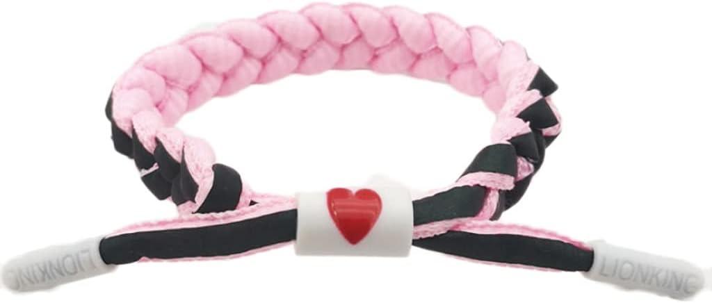 LGRACE Shining Reflective Bracelet Changing Rope Braided Trendy Bracelet for Women Men Children Red (Color : Pink)