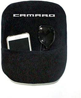 Seat Armour Console Cover Compatible with 2010-15 Camaro w/Camaro Logo - Black w/Silver Lettering 100% Terry Cotton