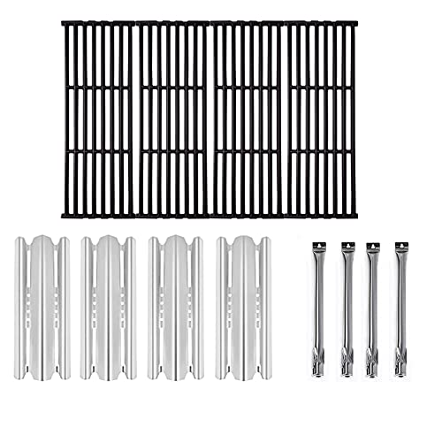 Zljiont Grid Grates Heat Plates and Burners Replacement for Broil King Baron 320, 340, 420, 440, 490 and Huntington 2122-64 2122-67 6020-54 6020-57 6020-64 6020-67 6023-89 6120-64