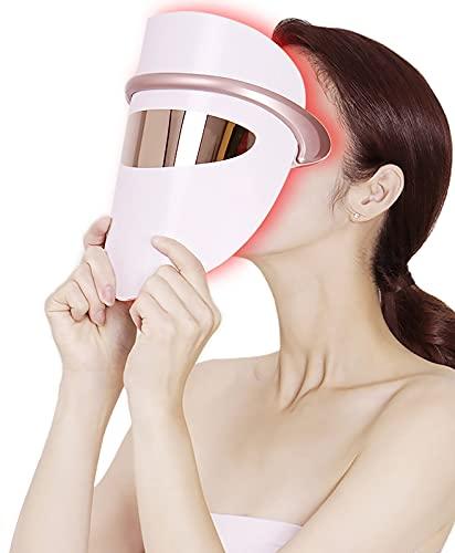 LVYE1 MRMF Terapia De La Luz De La Máscara De La Cara LED, Azul, Rojo, Naranja Luz para La Máscara De Fotón De Acné - Tecnología PDT para La Reducción del Acné