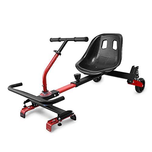 Accesorio Asiento Hoverboard Ajustable, para Scooter Autoequilibrado, Accesorio De Asiento Gokart para Transformar El Scooter Hoverboard En Un Kart
