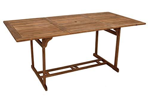 GXK Gartentisch Holztisch Akazientisch Gartenmöbel Tisch 90x180cm Holz Akazie