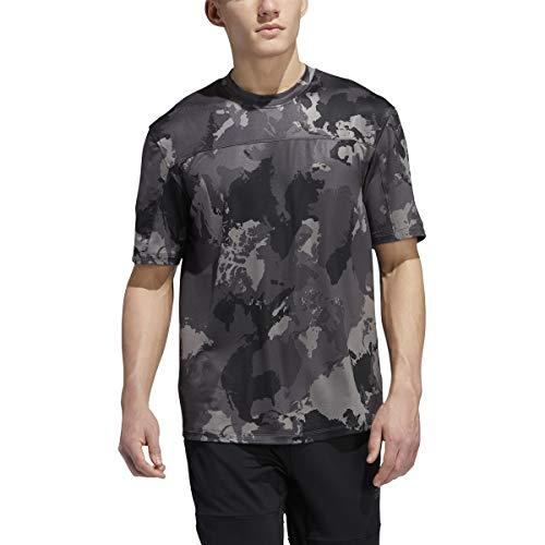 adidas Continent Camo City Camiseta, Gris, Extra-Small para Hombre