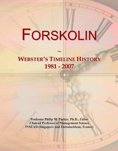 Forskolin: Webster's Timeline History, 1981 - 2007